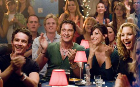"P.S. I Love You (L-r) JAMES MARSTERS as John, GERARD BUTLER as Gerry, GINA GERSHON as Sharon and LISA KUDROW as Denise in Alcon Entertainment's romantic comedy "","" distributed by Warner Bros. Pictures. The film also stars Hilary Swank. Ph"
