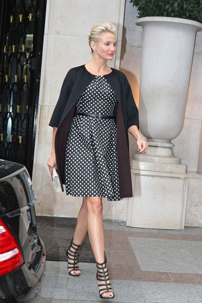 Cameron Diaz at the George V Hotel in Paris