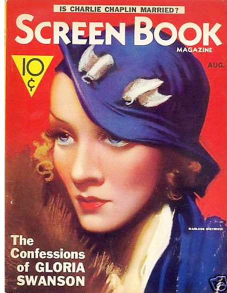 Marlene Dietrich - Screen Book Magazine [United States] (August 1933)