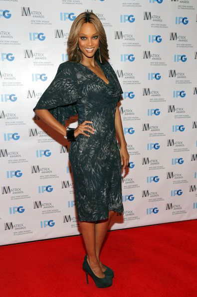 Tyra Banks: 2012 Matrix Awards Luncheon at Waldorf Astoria Hotel