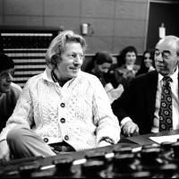 Musicals Danny Kaye, recording the cast album for Two By Two 1971