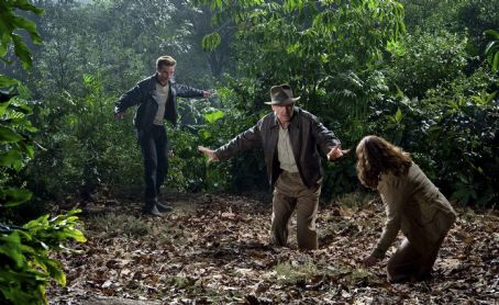 Marion Ravenwood Harrison Ford (center) is back as Indiana Jones, co-starring with Shia LaBeouf (left) as Mutt Williams and Karen Allen (right) as , in 'Indiana Jones and the Kingdom of the Crystal Skull.' Photo Credit: David James. ™ & © 2008 Luca