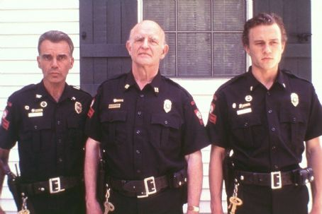 Peter Boyle Billy Bob Thornton,  and Heath Ledger in Lions Gate's Monster's Ball - 2001