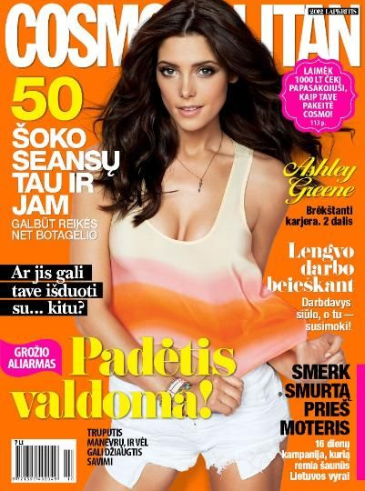 Ashley Greene - Cosmopolitan Magazine Cover [Lithuania] (November 2012)