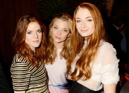 Rose Leslie , Natalie Dormer and Sophie Turner at HBO's Game Of Thrones Season 3 San Francisco Premiere (March 20, 2013)