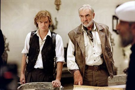 Tom Sawyer Shane West as Secret Service Agent  and Sean Connery as Allan Quatermain in 20th Century Fox's The League of Extraordinary Gentlemen - 2003
