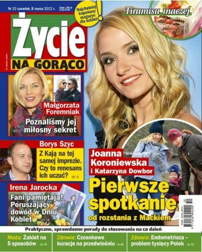 Joanna Koroniewska - Zycie na goraco Magazine Cover [Poland] (8 March 2012)
