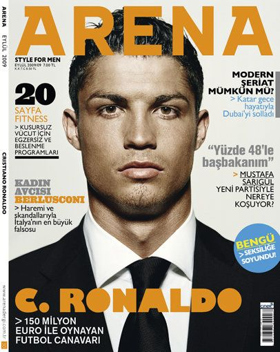 Cristiano Ronaldo - Arena Magazine Cover [Turkey] (September 2009)