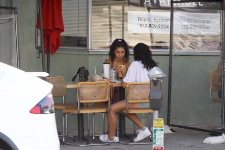 Chantel Jeffries – lunch with a friend in Beverly Hills