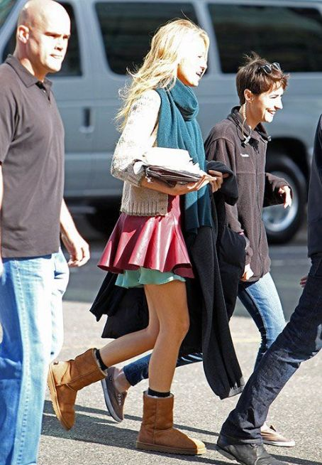 "Blake Lively: on the set of ""Gossip Girl"" in New York City"
