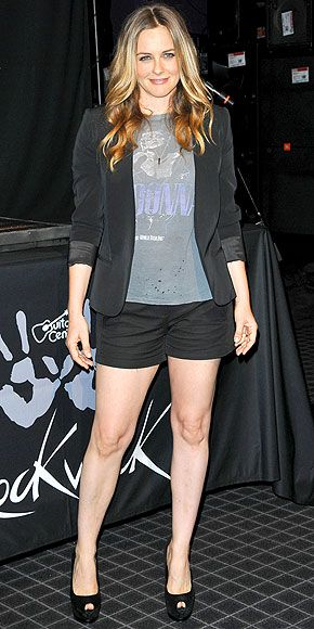 Alicia Silverstone: at Guitar Center's RockWalk in Hollywood
