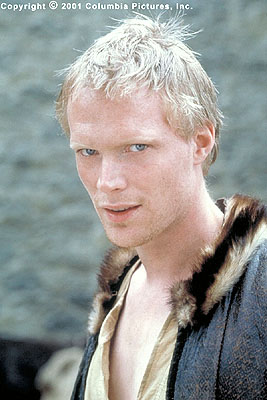 A Knight's Tale Geoffrey Chaucer (Paul Bettany), an oft-naked unknown writer and compulsive gambler who befriends William on his journey, dazzles the crowd with his glowing introductions in the Columbia Pictures presentation, A Knight's Tale - 2001