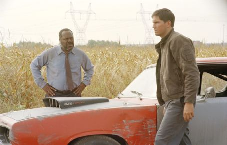 Frankie Faison  (left) as 'Macklin' and Jim Caviezel (right) as 'Rennie' in New Line Cinema's upcoming film Highwaymen.