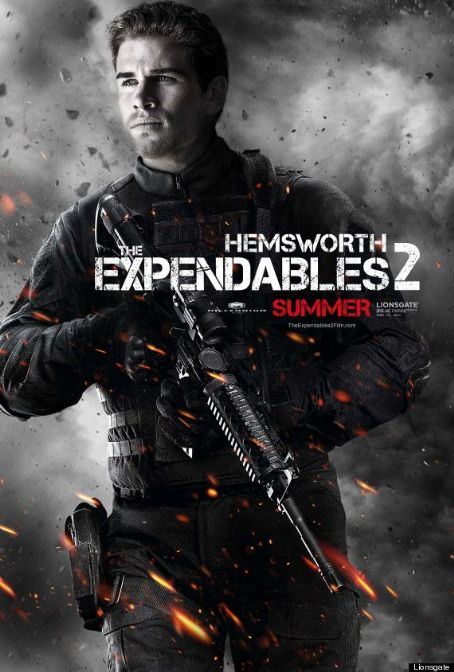 Two new posters for Liam Hemsworth's new film, The Expendables 2, have been released
