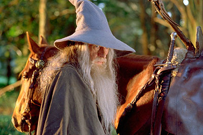 Gandalf Ian McKellen as the great wizard  in New Line's The Lord of The Rings: The Fellowship of The Ring - 2001
