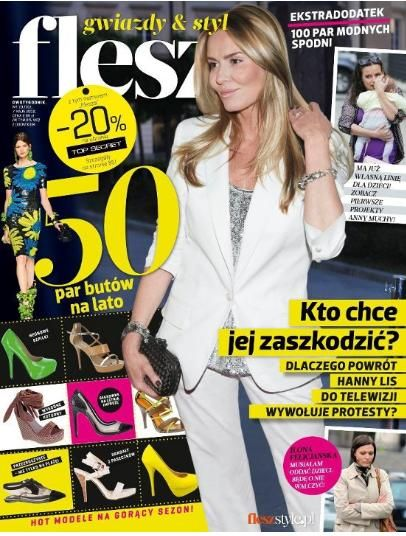 Hanna Lis - Flesz Magazine Cover [Poland] (7 April 2012)