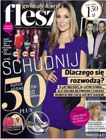 Halina Mlynkova - Flesz Magazine Cover [Poland] (23 April 2012)