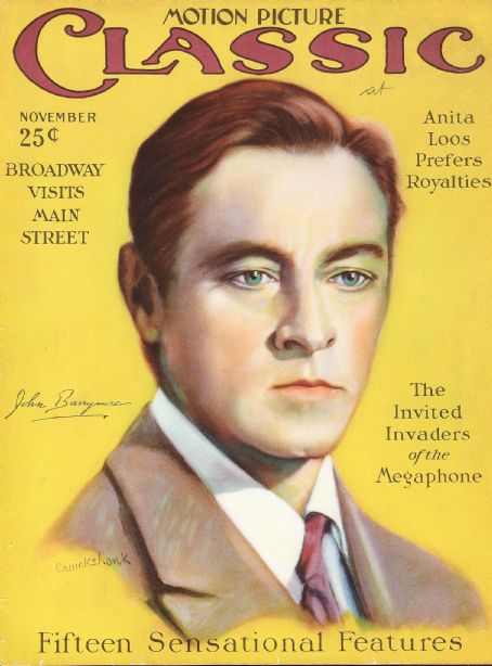 John Barrymore - Motion Picture Classic Magazine [United States] (November 1926)