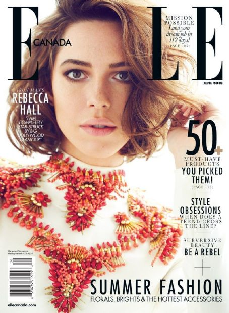 Rebecca Hall - Elle Magazine Cover [Canada] (June 2013)