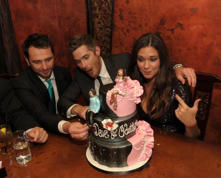 Dave Annable And Odette Yustman Celebrate Their Bachelor And Bachelorette Dinner At Lavo On August 14, 2010 In Las Vegas, Nevada