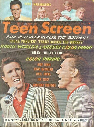 Elvis Presley - Teen Screen Magazine Cover [United States] (May 1965)
