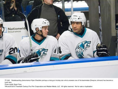Skateboarding phenomenon Ryan Sheckler portrays a rising pro hockey star who's unaware one of his teammates (Dwayne Johnson) has become a tooth fairy. Photo credit: Diyah Pera