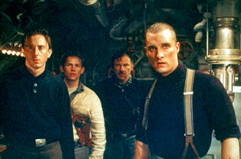 Jake Weber, Jack Noseworthy, Harvey Keitel and Matthew McConaughey in Universal's U-571 - 2000