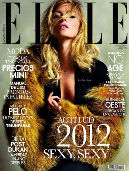 Cristina Tosio - Elle Magazine Cover [Spain] (January 2012)