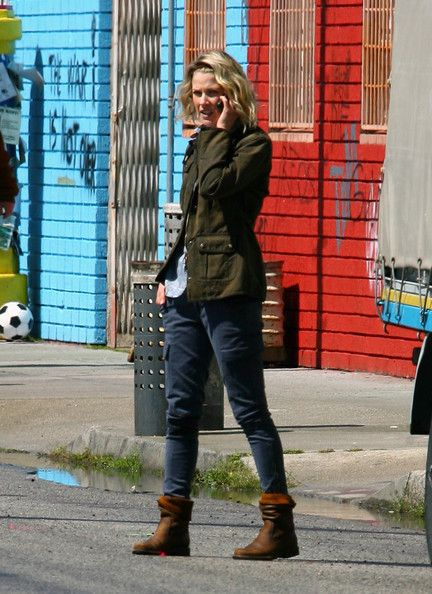 Ali Larter was busy on the set of a recent project in Downtown Los Angeles, California on March 19, 2012