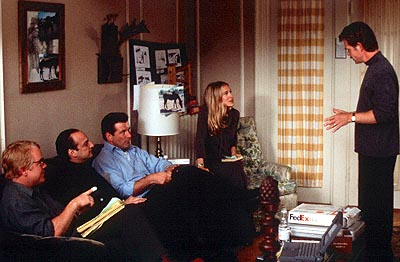 State and Main Philip Seymour Hoffman, David Paymer, Alec Baldwin, Sarah Jessica Parker and William H. Macy in Fine Line's  - 2000