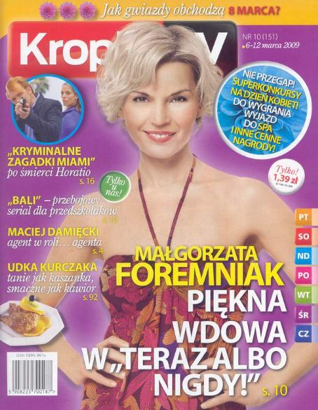 Malgorzata Foremniak - Kropka Tv Magazine [Poland] (6 March 2009)