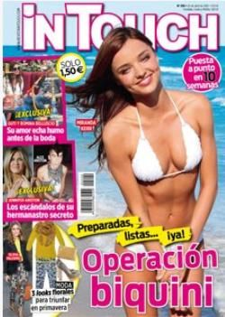 Miranda Kerr - In Touch Magazine Cover [Spain] (17 April 2012)