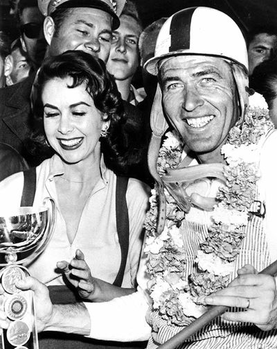 Susan Cummings  With Racer Carroll Shelby 1956