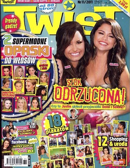 Demi Lovato, Selena Gomez - Twist Magazine Cover [Poland] (November 2011)