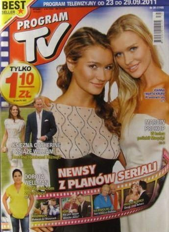 Marta Krupa, Joanna Krupa - Program TV Magazine Cover [Poland] (23 September 2011)