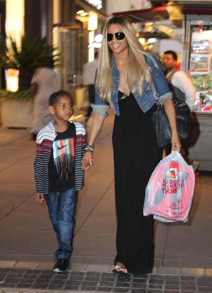 Ciara goes takes a little boy shopping at The Grove in Los Angeles, California on June 20, 2012
