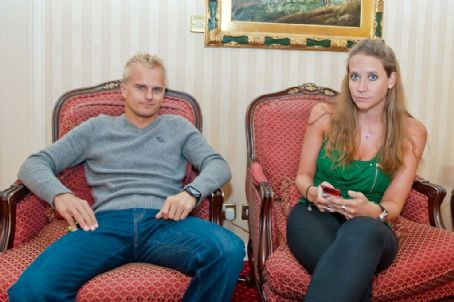 Heikki Kovalainen and Catherine Hyde