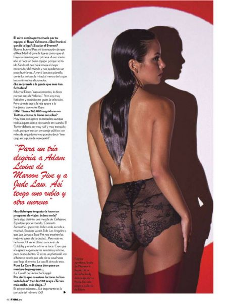Joan Crisol Cristina Pedroche FHM Spain July 2012