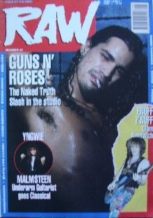 Slash - Raw Magazine Cover [United Kingdom] (18 April 1990)