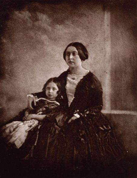 Victoria Queen  with her eldest daughter Princess