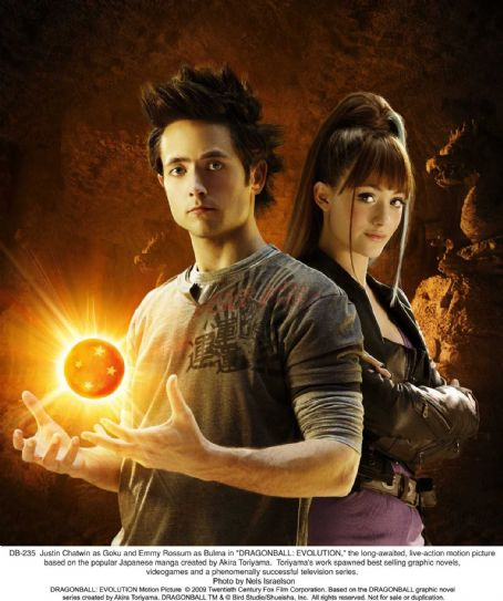 Goku Justin Chatwin as  and Emmy Rossum as Bulma in 'DRAGONBALL: EVOLUTION,' the long-awaited, live-action motion picture based on the popular Japanese manga created by Akira Toriyama. Photo credit: Nels Israelson. ©2009 Twentieth Century Fox Film