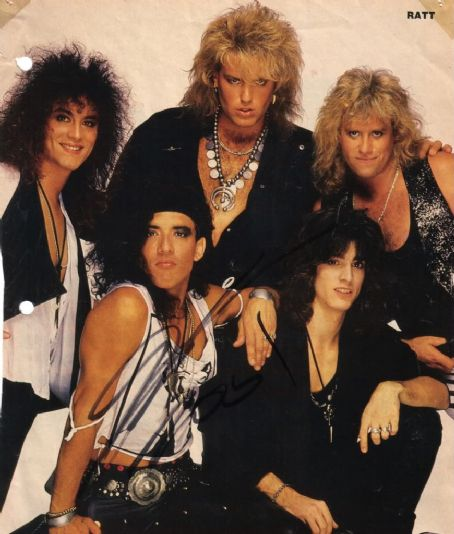 Stephen Pearcy Magazine pic of RATT during the 1980s