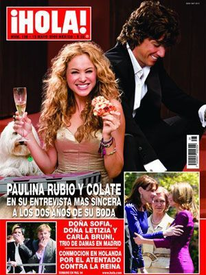 Paulina Rubio - Hola! Magazine Cover [Mexico] (19 May 2009)
