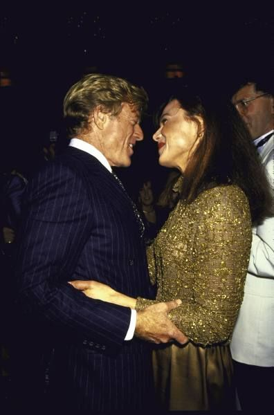 Robert Redford and Lena Olin in 1990.