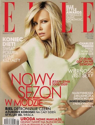Charlize Theron - Elle Magazine Cover [Poland] (September 2008)