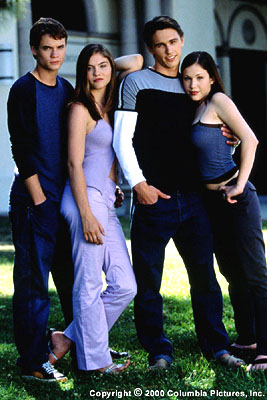 Whatever It Takes Shane West, Jodi Lyn O'Keefe, James Franco and Marla Sokoloff in Columbia/Phoenix's  - 3/2000