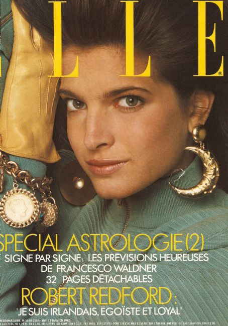 Stephanie Seymour - Elle Magazine Cover [France] (January 1987)