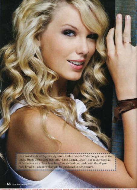 Taylor Swift - 2008 Justine Magazine Scan