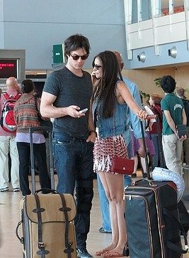 Nina Dobrev and Ian Somerhalder arrives at San Diego Airport (July 13)