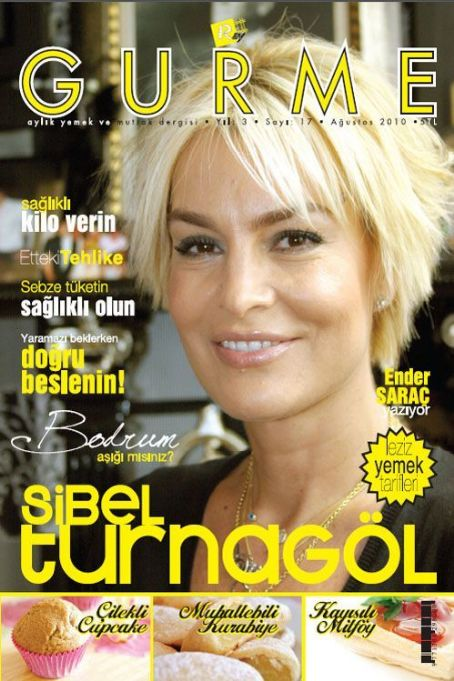 Sibel Turnagol - Gurme Magazine Cover [Turkey] (August 2010)